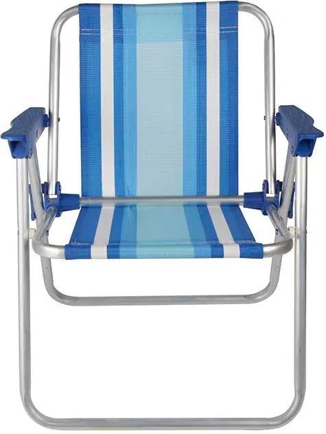 Cadeira Infantil Alta Alumínio 2121 Azul - Mor
