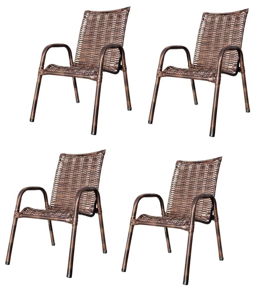 Kit C/ 4 Cadeira De Junco(Baixa) – JM Metalúrgica
