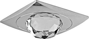 Plafon Embutir Cristal Cromado Shine