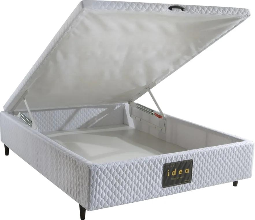 Base para Cama Box Casal com Baú MH 1800 Branco Idea 138x46188 - Herval