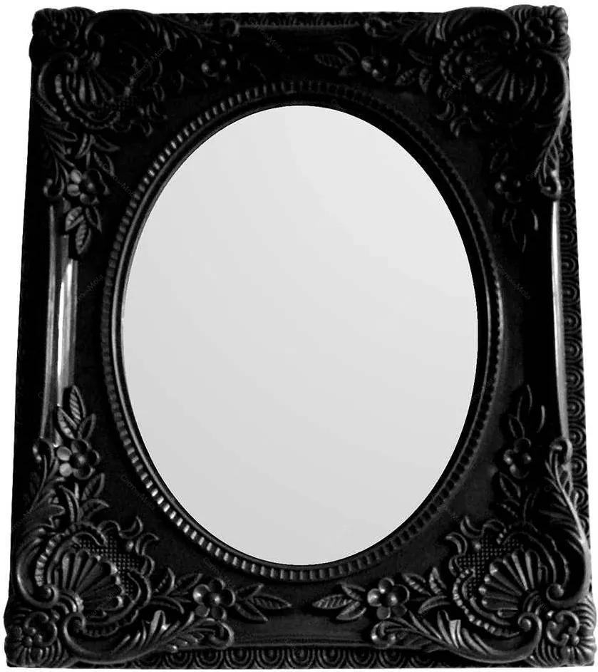 Espelho Retangular com Vidro Oval Indigo My Castle Preto - Urban