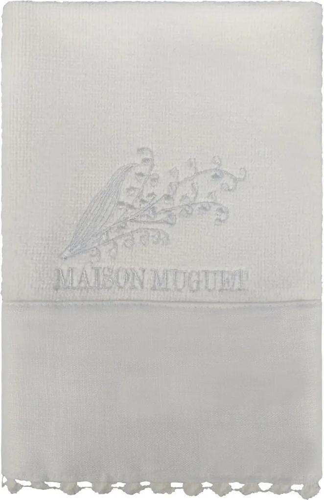 Toalha de Lavabo Maison Muguet  Muguet Home Branco