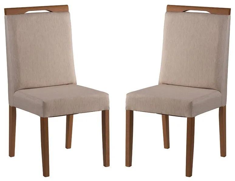 Conjunto 2 Cadeiras de Jantar Heddy - Wood Prime MF 31984