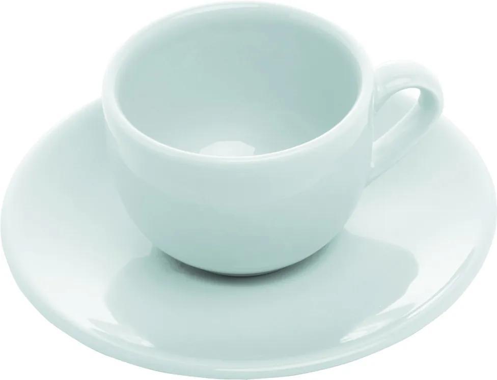 Conjunto 6 Xícaras Cerâmica Para Café Com Pires Antalia Shell 125ml