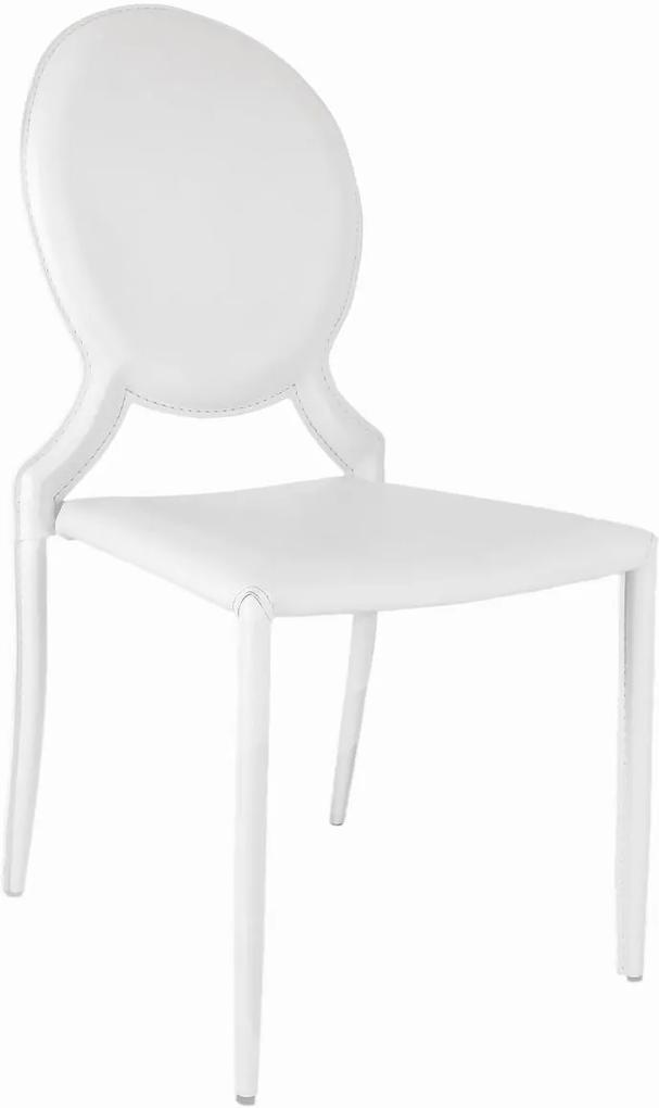 Cadeira Elisa Medalhão sem Braço Branco