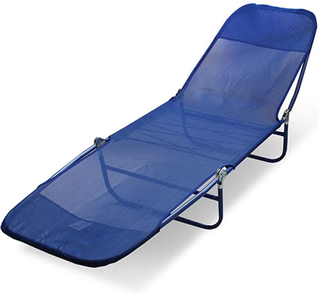 Cadeira Espreguiçadeira Textilene Adulto Estampas Sortidas Belfix Azul