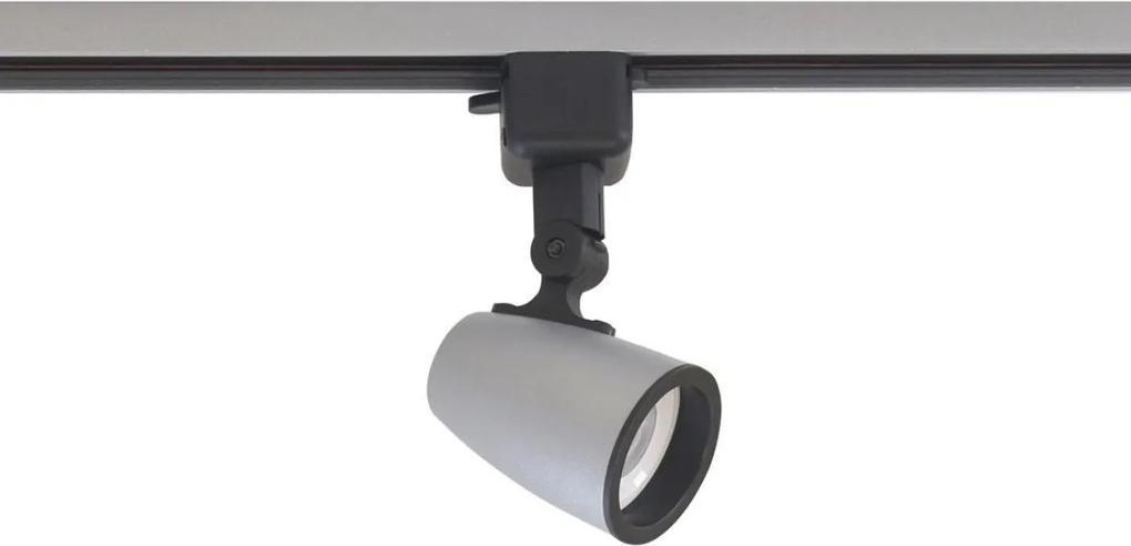 Spot Para Trilho Alt06016pn Platinado 1 Lampled Dicroica Gu-10 15w SL