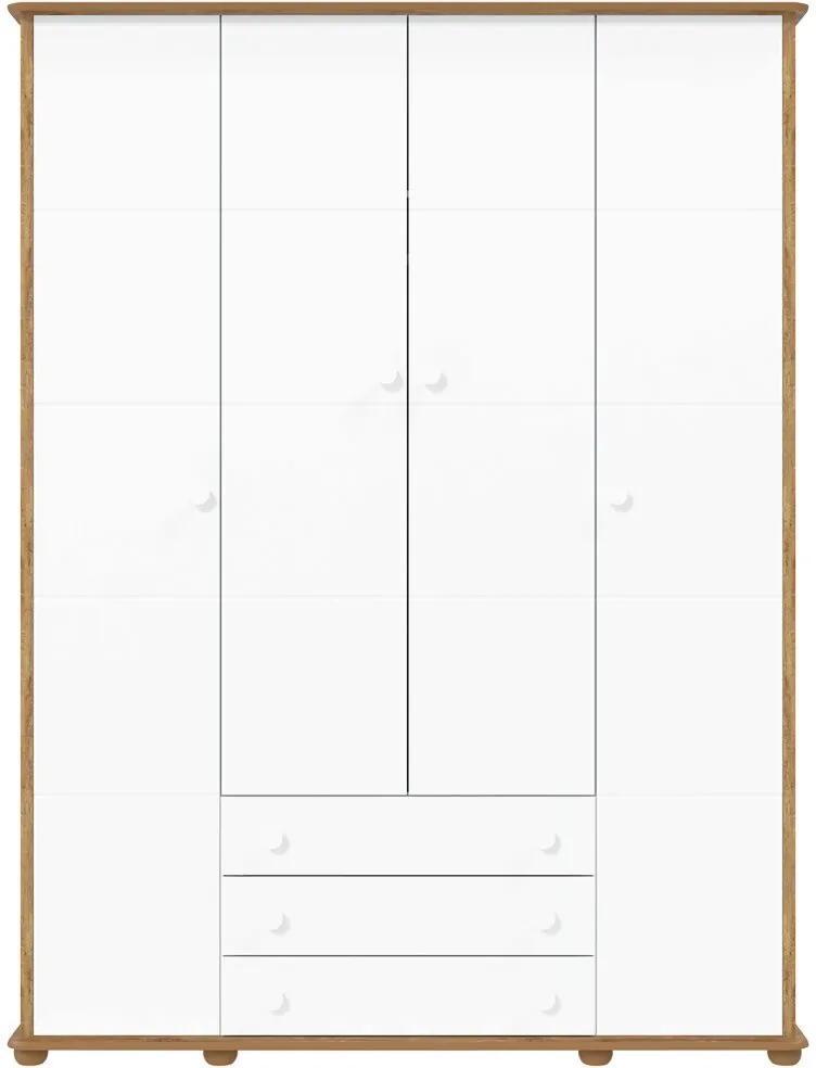Guarda-Roupa 4 Portas Fratelli Branco e Teka Matic Móveis