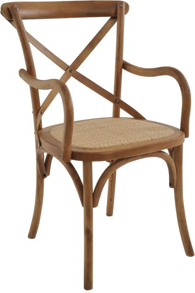 Cadeira Katrina Rústica com Braço Natural