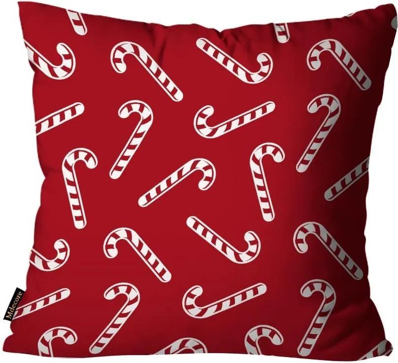 Capa para Almofada Mdecore Natal Bengala Vermelha45x45cm