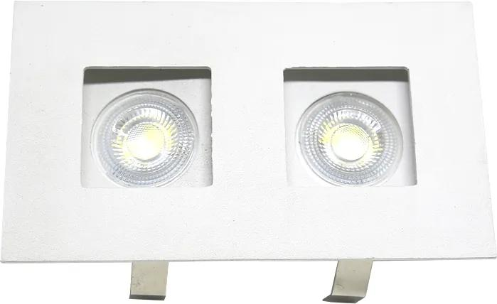 Plafon Embutir Aluminio Branco Mr-11 13,5cm