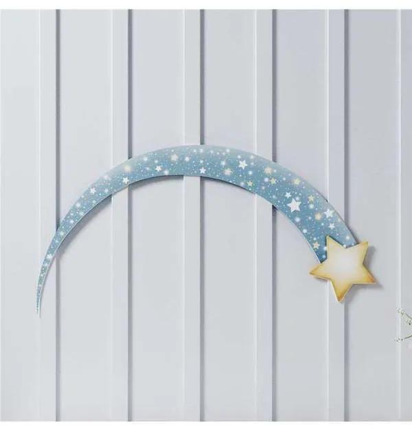 Adesivo de Parede Estrela Cadente 31cm Grão de Gen