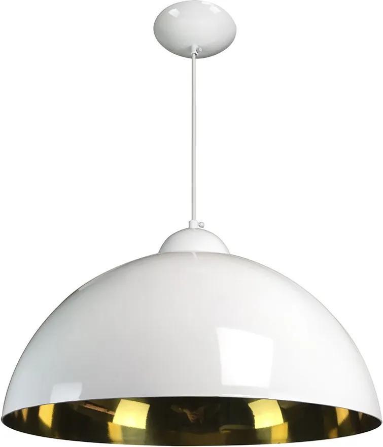 Pendente Esfera 40cm Branco/Ouro - Caisma - 3714-BR/OU