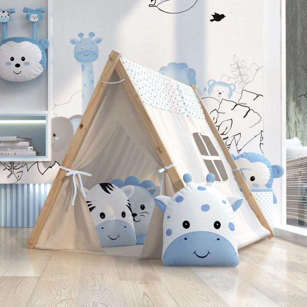 Cabana Infantil Azul Amiguinhos Safári Grão de Gente Azul