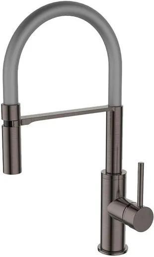 Misturador Monocomando para Cozinha Gourmet Grey Matte com Flexivel Cinza 10645-291QS - Jiwi - Jiwi