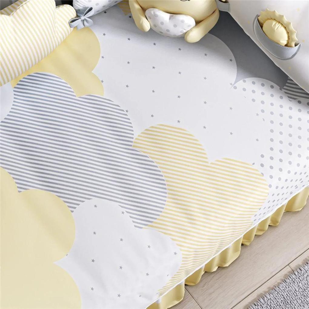 Edredom Bebê Nuvem de Algodão Amarelo Grão de Gente Amarelo
