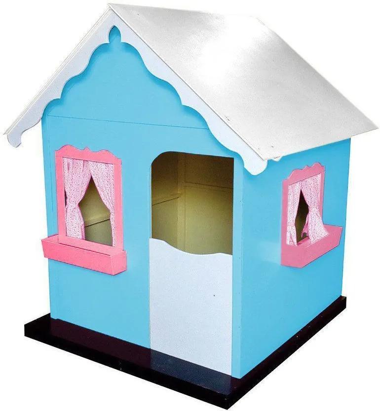 Casinha Infantil de Brinquedo com Cortina Tiffany/Rosa - Criança Feliz