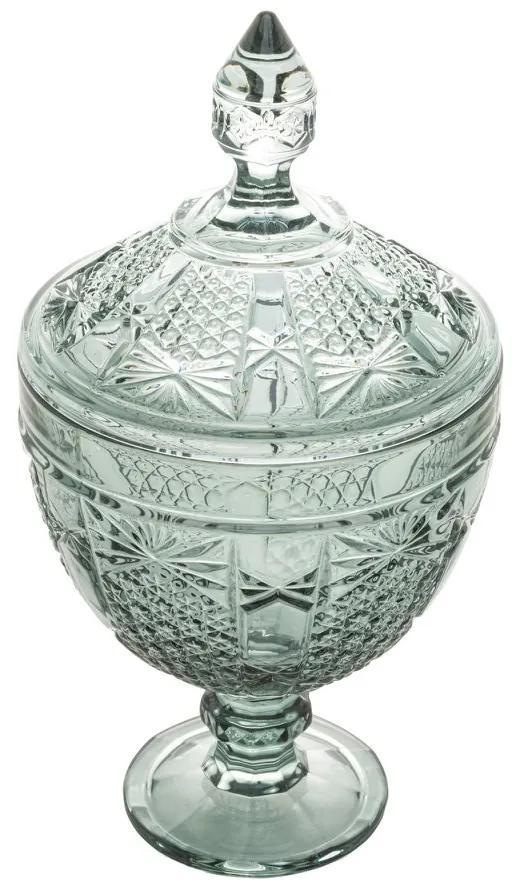 Potiche Cristal Com Pé Princess Verde 15x28cm 28255 Wolff