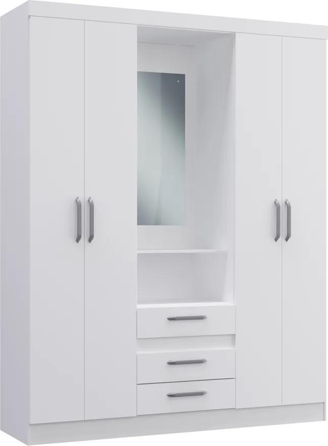 Guarda-Roupa 4 Portas 3 Gavetas RP3430 Branco Decibal