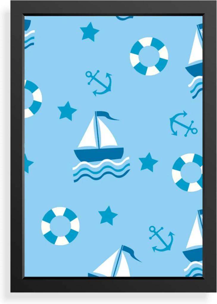 Quadro Love Decor Decorativo Infantil Mar
