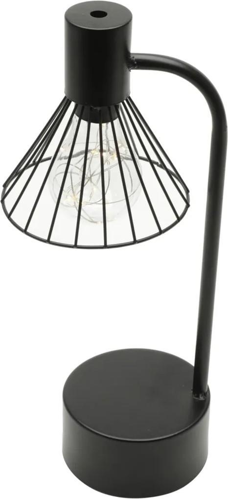 Luminária Aço Plástico Vintage Triangle Preto 13X10X34,5 Cm Urban