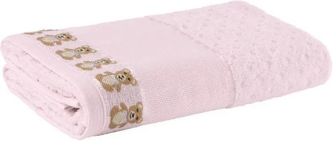 Toalha de Lavabo Para Bordar Teddy II - Rosa Cristal - Karsten