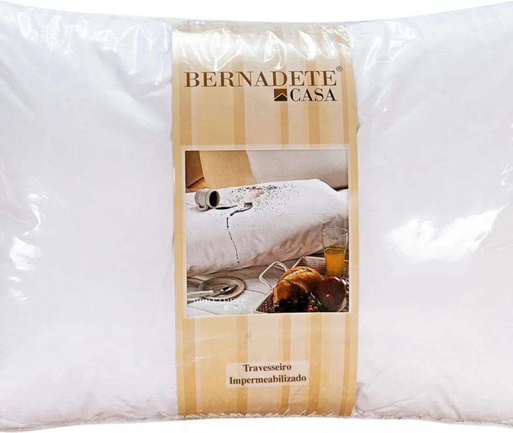 Travesseiro de Cama 70cm x 50cm Percal 200 fios - Travesseiro Impermeavel - Bernadete Casa