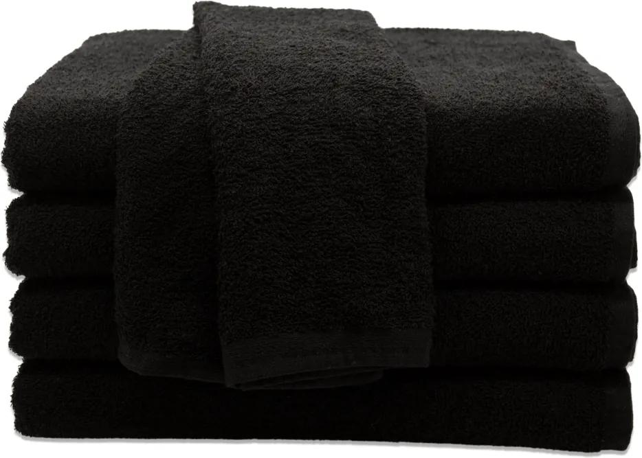 Toalha de Rosto para Salão de Beleza Preta - 45x70cm - Primata