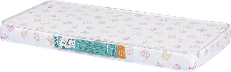 Colchão Para Berço Pro Confort Baby D18 Rosa Liso 60x130x10 Hellen