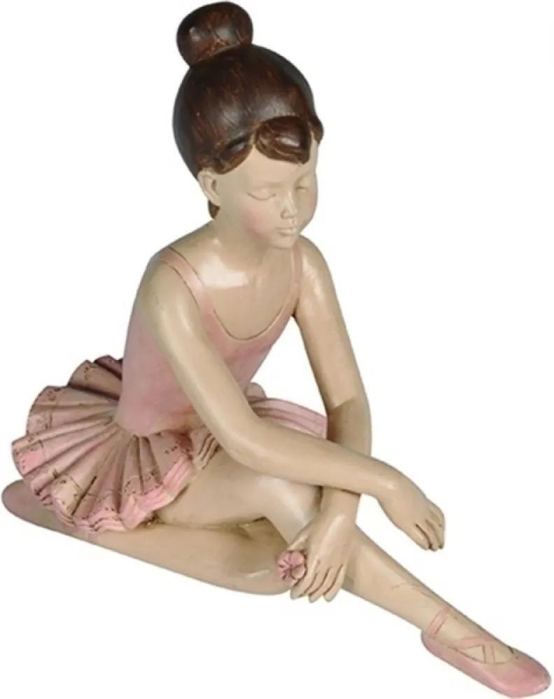 escultura RAQUEL bailarina resina 19cm Ilunato QC0315