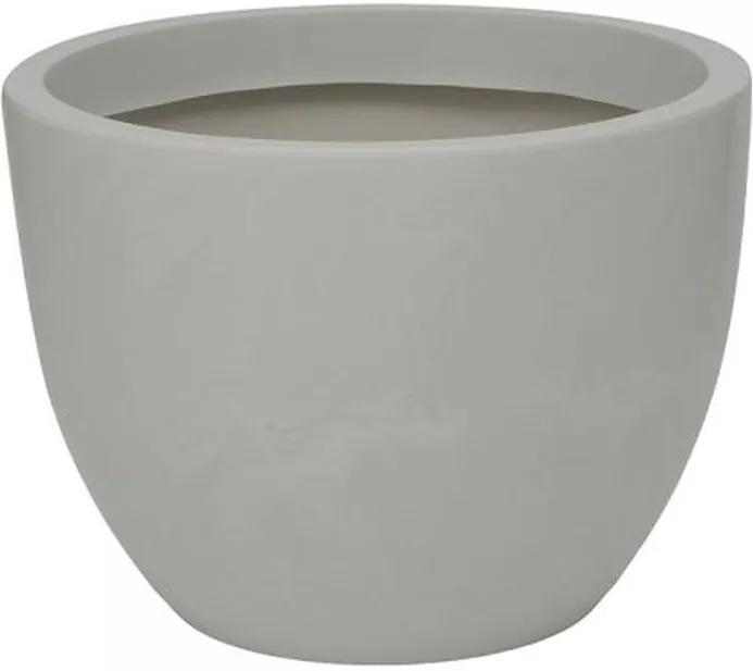 Vaso Polietileno Estilo Vietnamita Verona Short D60cm x A45cm Antique Branco