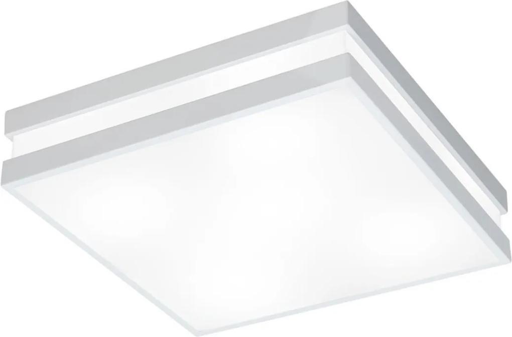 Plafon Sobrepor Metal Acrilico Branco 32,5cm