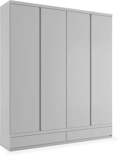Armário Lille 04 portas de abrir e 02 gavetas externas - 1,80, Padrao - Branco