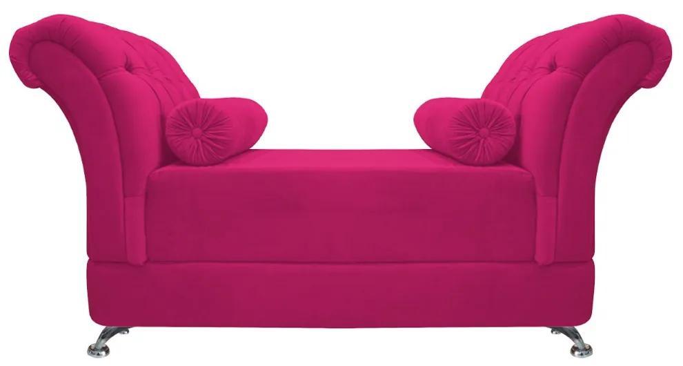Recamier Taty Queen Size 160cm Suede Pink - ADJ Decor