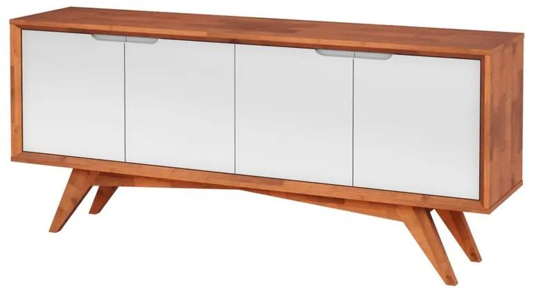 Buffet Querubim 4 Portas Natural e Branco - Wood Prime MP 27588
