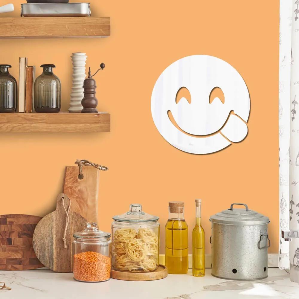 Espelho Decorativo Emoji Hmm