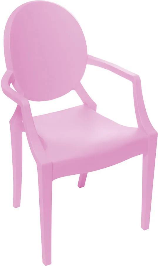 Cadeira Invisible Infantil com Braço - Rosa