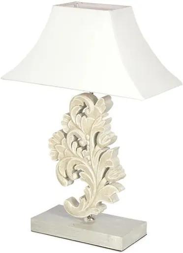 Luminária de Mesa Floral Cinza - Lado A