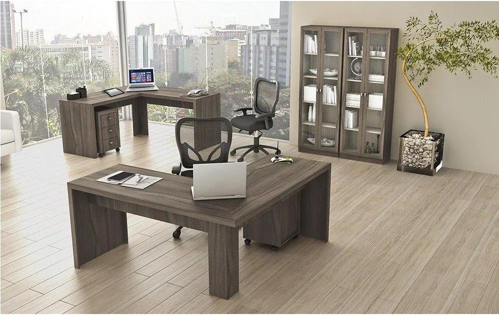 Conjunto para Home Office 06 Peças Carvalho - Tecno Mobili