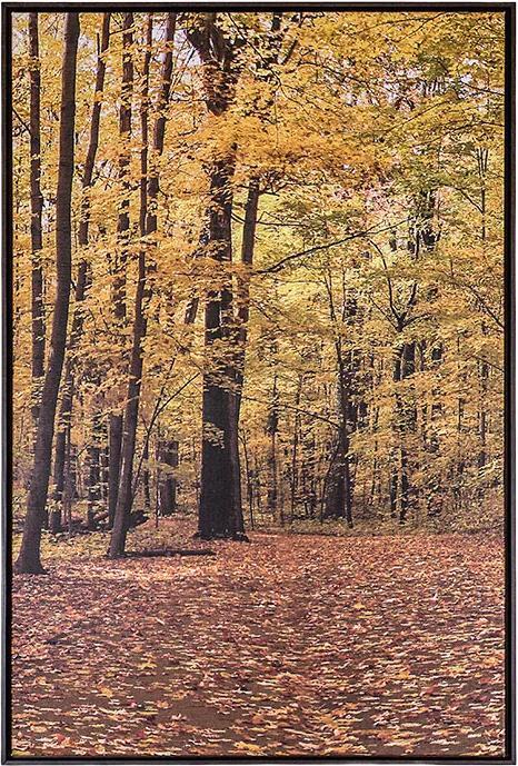 Tela Outono II em Canvas - 50x70cm - Moldura Imbuia  Kleiner Schein