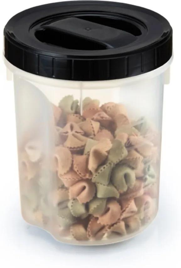 Pote Com Tampa Rosca Acoplado Para Macarrão Plástico 1 Litro