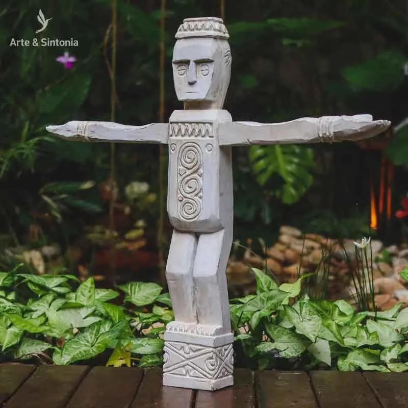 Escultura Étnica Timor 60cm | Madeira