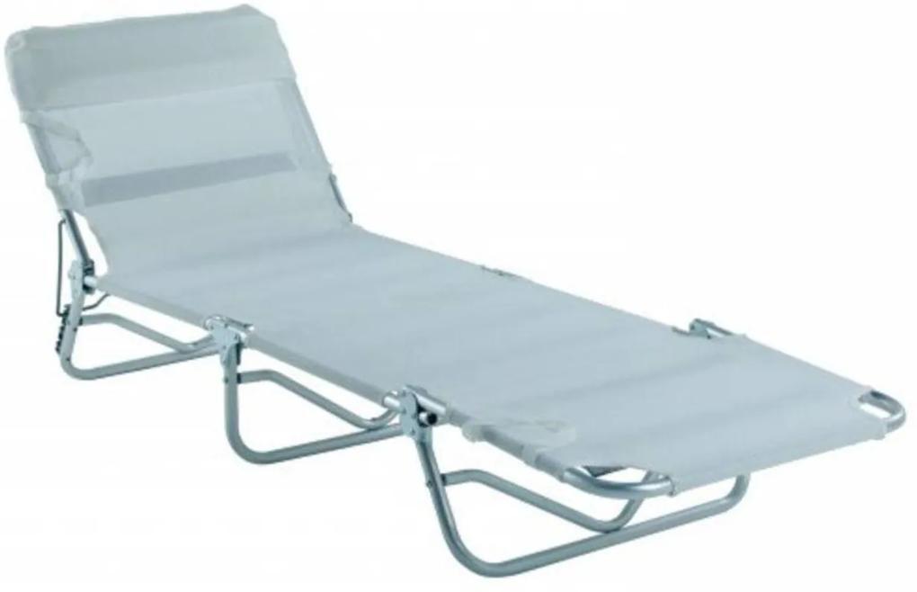 Cadeira  Espreguiçadeira Bel Fix Textilene Alumínio 3 Posições Bel Lazer - Branco