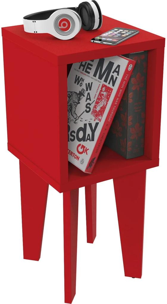 Mesa de Canto Tubi RV Móveis Vermelha