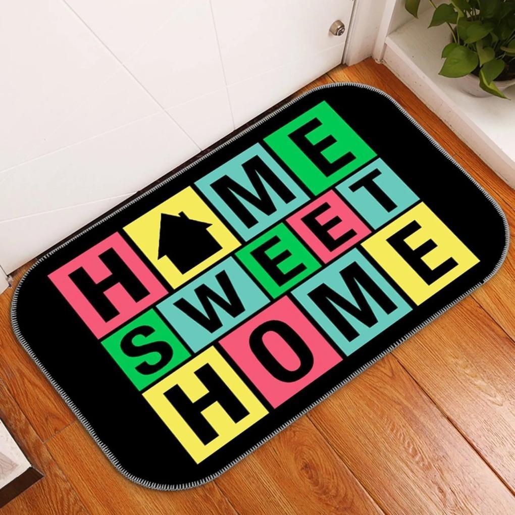 Tapete Decorativo Home Sweet Home Colorido Único