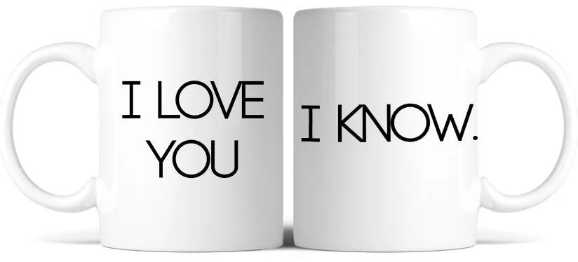 Caneca Kit I love you. I know