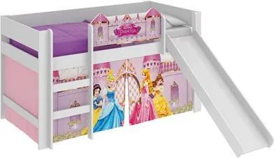 Cama Infantil Escorregador Princesas Disney Play Branco - Pura Magia