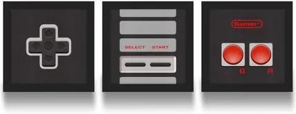 Set de Quadros Gamer Joystick 8-bits