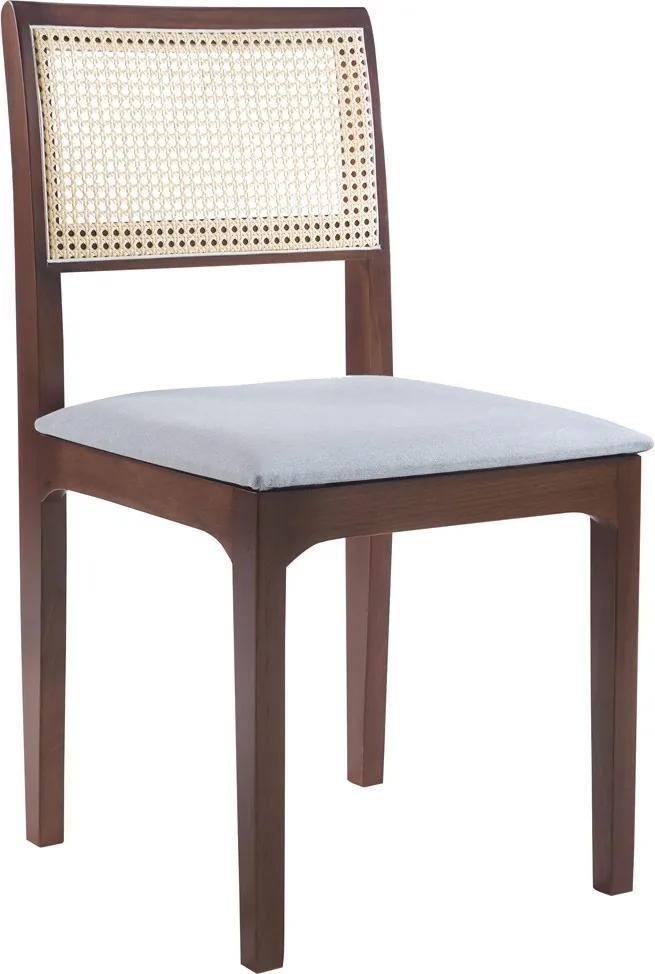 Cadeira Decorativa Sala de Jantar Nivea Amêndoa - Gran Belo