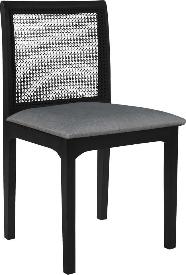 Cadeira Decorativa Sala de Jantar Steve Ébano - Gran Belo